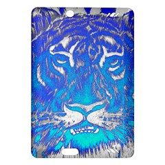 Background Fabric With Tiger Head Pattern Amazon Kindle Fire Hd (2013) Hardshell Case