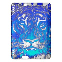 Background Fabric With Tiger Head Pattern Kindle Fire Hdx Hardshell Case