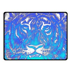 Background Fabric With Tiger Head Pattern Double Sided Fleece Blanket (small)