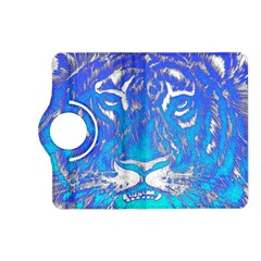 Background Fabric With Tiger Head Pattern Kindle Fire Hd (2013) Flip 360 Case