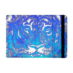 Background Fabric With Tiger Head Pattern Ipad Mini 2 Flip Cases