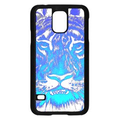 Background Fabric With Tiger Head Pattern Samsung Galaxy S5 Case (black)