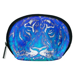 Background Fabric With Tiger Head Pattern Accessory Pouches (medium)