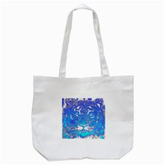 Background Fabric With Tiger Head Pattern Tote Bag (white)