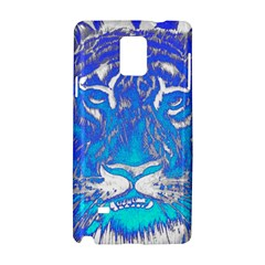 Background Fabric With Tiger Head Pattern Samsung Galaxy Note 4 Hardshell Case