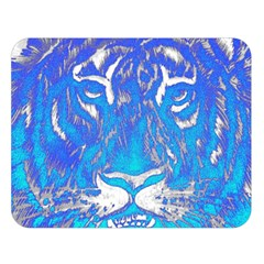 Background Fabric With Tiger Head Pattern Double Sided Flano Blanket (large)