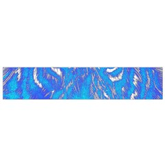 Background Fabric With Tiger Head Pattern Flano Scarf (Small)