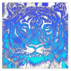 Background Fabric With Tiger Head Pattern Large Satin Scarf (square)