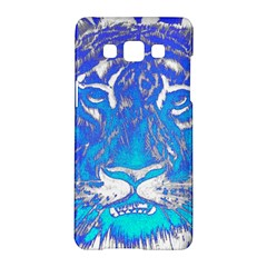 Background Fabric With Tiger Head Pattern Samsung Galaxy A5 Hardshell Case