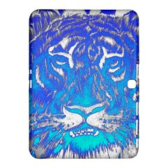 Background Fabric With Tiger Head Pattern Samsung Galaxy Tab 4 (10 1 ) Hardshell Case