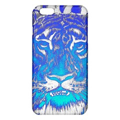 Background Fabric With Tiger Head Pattern Iphone 6 Plus/6s Plus Tpu Case