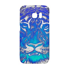 Background Fabric With Tiger Head Pattern Galaxy S6 Edge