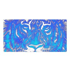 Background Fabric With Tiger Head Pattern Satin Shawl