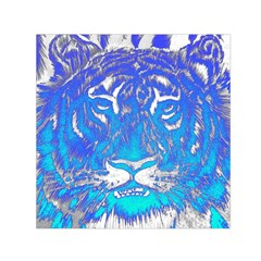 Background Fabric With Tiger Head Pattern Small Satin Scarf (square)