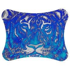 Background Fabric With Tiger Head Pattern Jigsaw Puzzle Photo Stand (bow)