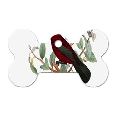 Bird On Branch Illustration Dog Tag Bone (one Side)