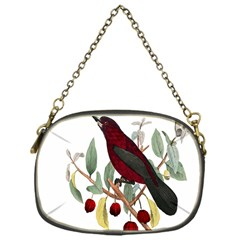 Bird On Branch Illustration Chain Purses (one Side)