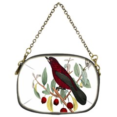Bird On Branch Illustration Chain Purses (two Sides)