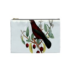 Bird On Branch Illustration Cosmetic Bag (medium)