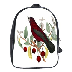 Bird On Branch Illustration School Bags(large)