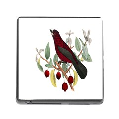 Bird On Branch Illustration Memory Card Reader (square)