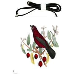 Bird On Branch Illustration Shoulder Sling Bags