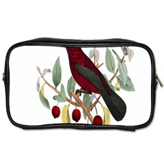 Bird On Branch Illustration Toiletries Bags