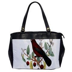 Bird On Branch Illustration Office Handbags