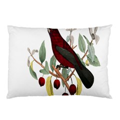 Bird On Branch Illustration Pillow Case (two Sides)