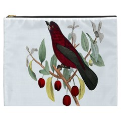Bird On Branch Illustration Cosmetic Bag (xxxl)