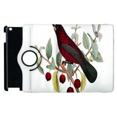 Bird On Branch Illustration Apple Ipad 2 Flip 360 Case