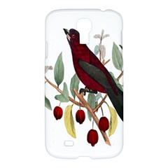 Bird On Branch Illustration Samsung Galaxy S4 I9500/i9505 Hardshell Case