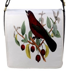 Bird On Branch Illustration Flap Messenger Bag (s)