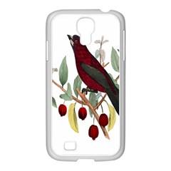 Bird On Branch Illustration Samsung Galaxy S4 I9500/ I9505 Case (white)