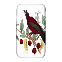 Bird On Branch Illustration Samsung Galaxy S4 Classic Hardshell Case (PC+Silicone)