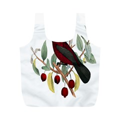 Bird On Branch Illustration Full Print Recycle Bags (m)