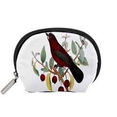 Bird On Branch Illustration Accessory Pouches (small)