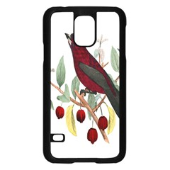 Bird On Branch Illustration Samsung Galaxy S5 Case (black)