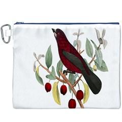 Bird On Branch Illustration Canvas Cosmetic Bag (XXXL)