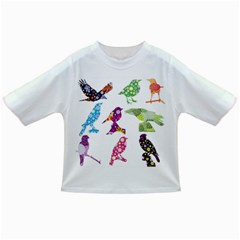 Birds Colorful Floral Funky Infant/toddler T Shirts