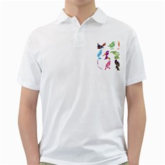 Birds Colorful Floral Funky Golf Shirts