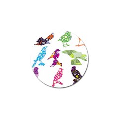Birds Colorful Floral Funky Golf Ball Marker (10 Pack)