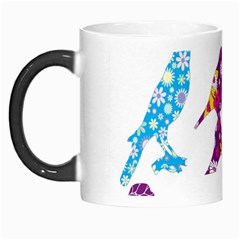 Birds Colorful Floral Funky Morph Mugs