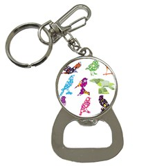 Birds Colorful Floral Funky Button Necklaces