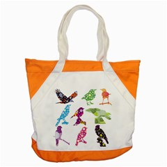 Birds Colorful Floral Funky Accent Tote Bag
