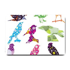 Birds Colorful Floral Funky Small Doormat