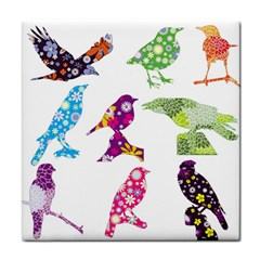 Birds Colorful Floral Funky Face Towel