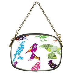 Birds Colorful Floral Funky Chain Purses (one Side)