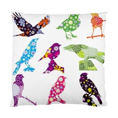 Birds Colorful Floral Funky Standard Cushion Case (two Sides)