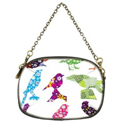 Birds Colorful Floral Funky Chain Purses (two Sides)